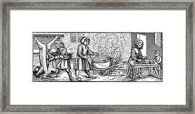 Kitchen, 1518 Framed Print by Granger