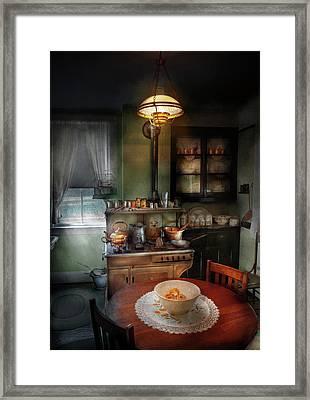 Kitchen - 1908 Kitchen Framed Print by Mike Savad