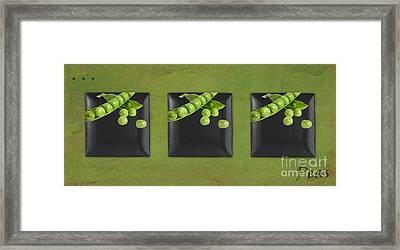 Kitchen Art - Peas - 02t01b Framed Print by Aimelle