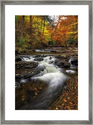 Kitchen Creek Cascades Framed Print by Mark Papke