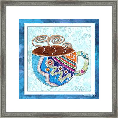 Kitchen Cuisine Hot Cuppa No20 By Romi And Megan Framed Print by Megan Duncanson