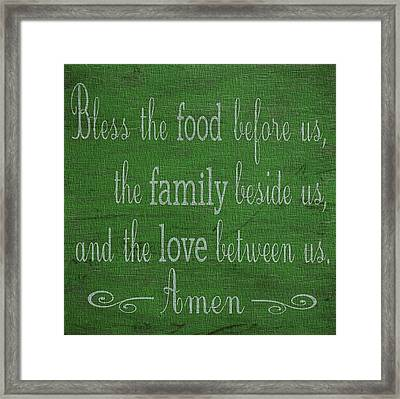 Kitchen Decor Green Canvas Framed Print by Dan Sproul