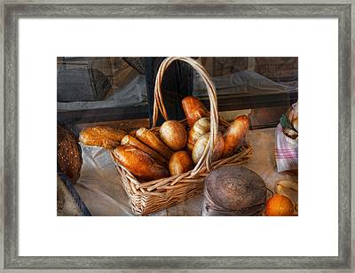 Kitchen - Food - Bread - Fresh Bread  Framed Print by Mike Savad