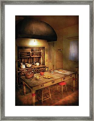 Kitchen - Granny's Stove Framed Print by Mike Savad