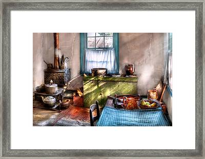 Kitchen - Old Fashioned Kitchen Framed Print by Mike Savad