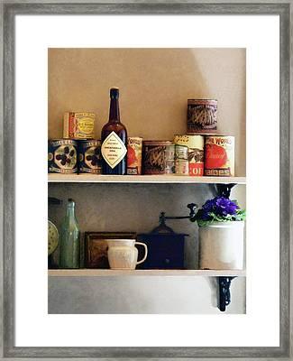 Kitchen Pantry Framed Print by Susan Savad