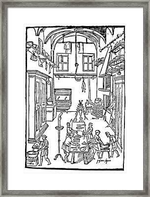 Kitchen Scene, 1605 Framed Print by Granger
