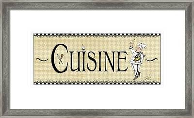 Kitchen Sign-cuisine Framed Print by Shari Warren