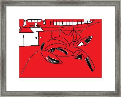 Kitchen Sofa Fantasia Framed Print by Anita Dale Livaditis