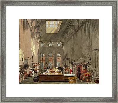 Kitchen, St. Jamess Palace, Engraved Framed Print by James Stephanoff