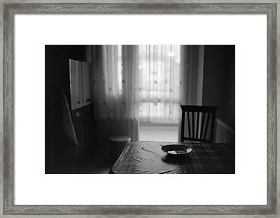 Kitchen Table Framed Print by Ilker Goksen