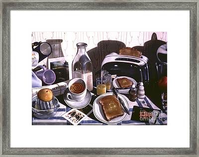 Kitchen Table No.2 1994  Skewed Perspective Series 1991 - 2000 Framed Print by Larry Preston