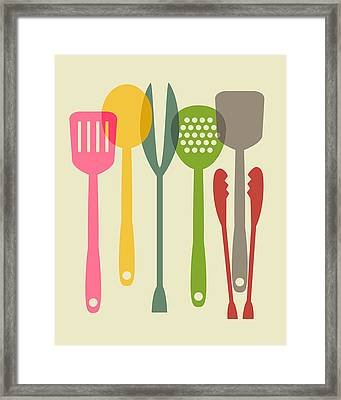 Kitchen Tools Framed Print by Ramneek Narang