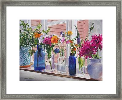 Kitchen Window Sill Framed Print by Karol Wyckoff