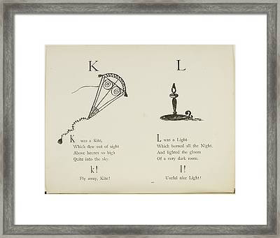 Kite And Light Framed Print by British Library