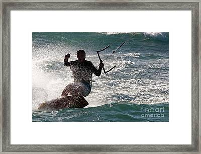 Kite Surfer 01 Framed Print by Rick Piper Photography