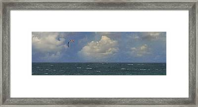 Kite Surfer Framed Print by Michael Moschogianis