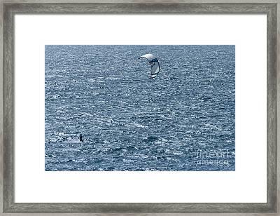 Kite Surfing Framed Print by Brian Roscorla