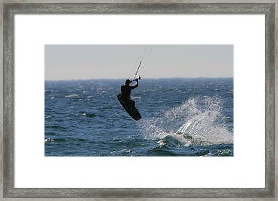 Kite Surfing Wakeboard Framed Print by Dan Sproul