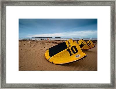 Kitesurfing Framed Print by Daniel Kocian