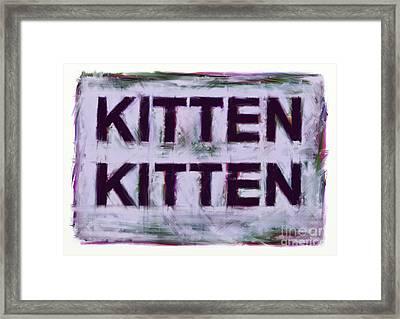 Kitten Kitten Framed Print by Keith Mills