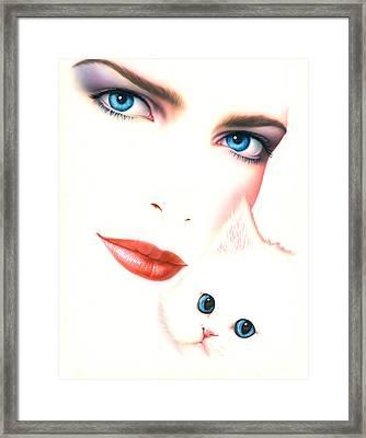 Kitten Love Framed Print by Andrew Farley