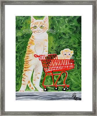 Kitten Walk Framed Print by Art by Danielle