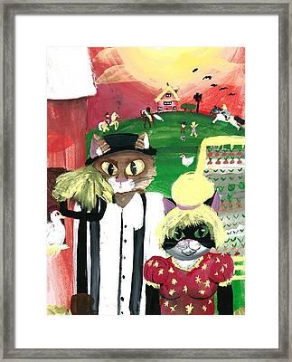 Kitty Farmer Framed Print by Shelby McSweeney