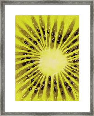 Kiwi Framed Print by Anastasiya Malakhova