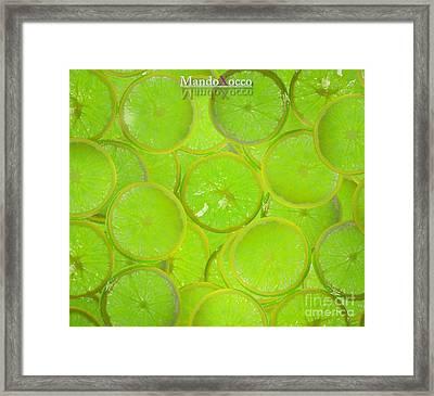 Kiwi Lemon Orange Framed Print by Mando Xocco