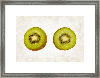 Kiwi Slices Framed Print by Danny Smythe