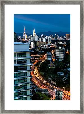Kl City Framed Print by Adrian Evans