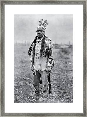 Klamath Indian Man Circa 1923 Framed Print by Aged Pixel