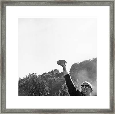 Klass Ufo Hoax Demonstration Framed Print by American Philosophical Society