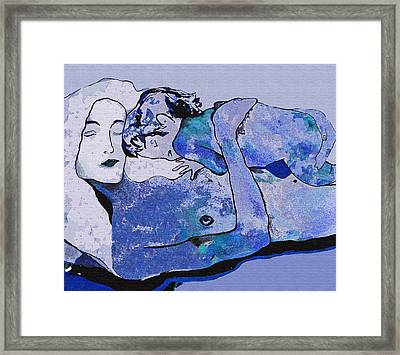 Klimt Blue Period  Framed Print by WaterLily