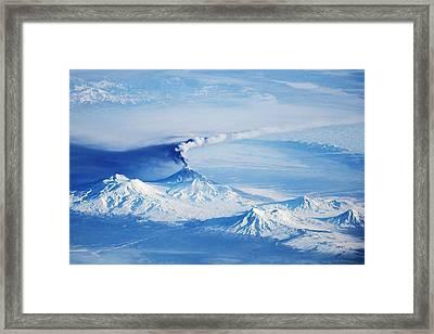 Kliuchevskoi Eruption Framed Print by Nasa