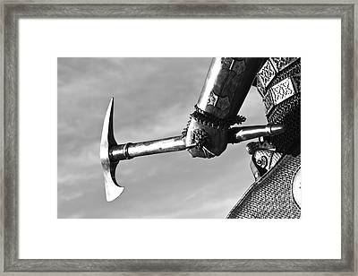 Knight And Axe Framed Print by Holly Martin