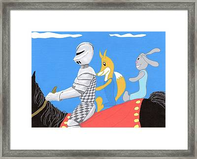Knight And Characters Framed Print by Stacy C Bottoms