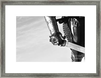 Knight And His Sword II Framed Print by Holly Martin