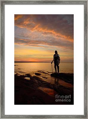 Knight At Sunrise Framed Print by Jill Battaglia
