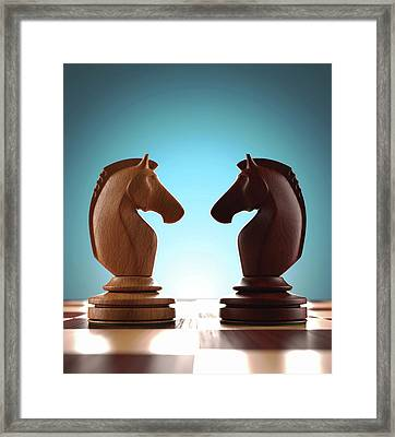 Knight Chess Pieces Framed Print by Ktsdesign