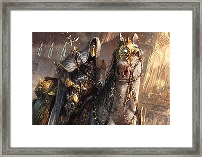 Knight Of Obligation Framed Print by Ryan Barger