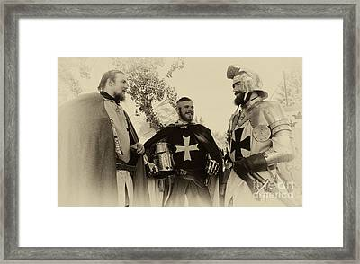 Knights Brothers In Arms 1 Framed Print by Bob Christopher