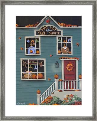 Knit Wit Yarn Shoppe Framed Print by Catherine Holman