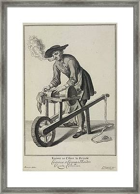 Knives Or Cifers To Grinde Framed Print by British Library