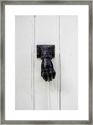 Knock Knock Framed Print by Georgia Fowler