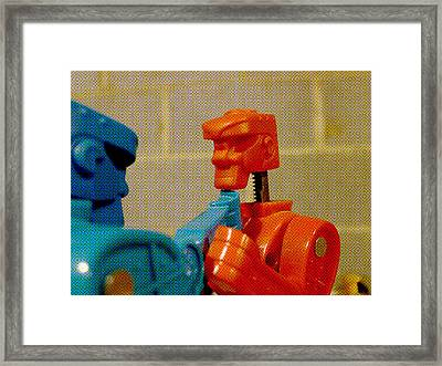 Knock Out Blow Framed Print by Richard Reeve