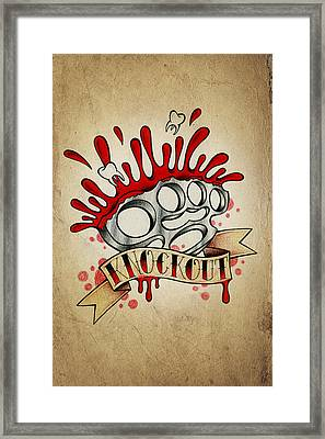 Knockout Framed Print by Samuel Whitton