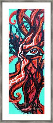 Knotted Tree 2 Framed Print by Genevieve Esson