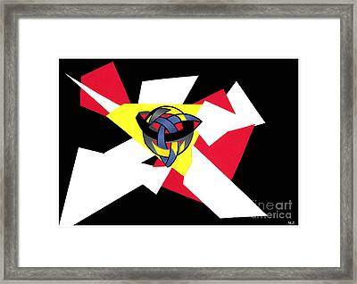 Knotted World Framed Print by Mary Zimmerman